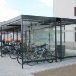 Fahrradüberdachung Economy mit Raucherzone