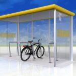 Fahrradüberdachung FX, 8 Fahrräder