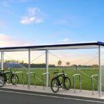 Fahrradüberdachung FX, offen
