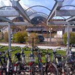 Fahrradüberdachung Fornix, Innenansicht