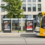 Wartehalle Metropole in Erfurt mit City Light Vitrine