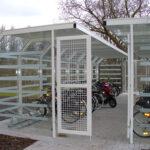 Fahrradüberdachung Ala, Eingang