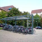 Fahrradüberdachung Aquila doppelseitig
