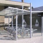 Fahrradüberdachung Aquila mit Seitenwand