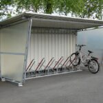 Fahrradüberdachung Budget, geschlossen