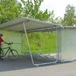 Fahrradüberdachung Budget, Grundmodul doppelseitig mit Seitenwand