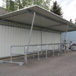 Fahrradüberdachung Budget mit Anlehnparker Trust