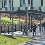 Fahrradüberdachung Casa mit Anlehnparker Trust