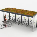Fahrradüberdachung Progress mit Grünbedachung