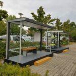 Fahrradüberdachung und Wartehalle Progress