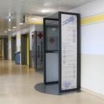 Hygiene Kabine Puro - Anwendung im Durchgangsbereich einer Notaufnahme