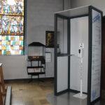 Hygiene Kabine Puro - Anwendung in einer Kirche