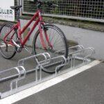 Bügelparker Clamp mit Fahrrad