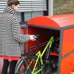 Bike Box Urban, Einparken eines Fahrrads