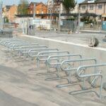 Fahrradständer Strap, Beispiel Reihenanlage